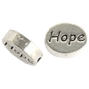 Metal Bead Oval with Hope 11x9x3mm Lead Free
